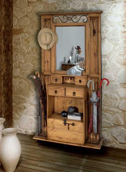 Hall de entrada no melhor do estilo r stico decora o e - Muebles de recibidor clasicos ...
