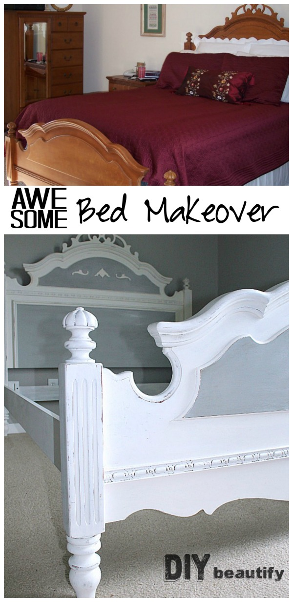 painted bed before and after