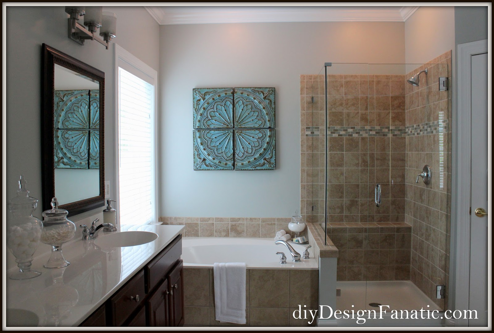 diy Design Fanatic: Master Bath Update