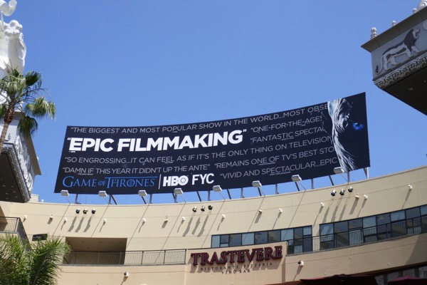 Game of Thrones 2018 Emmy FYC billboard