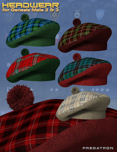 Headwear for Genesis 2 and 3 Male