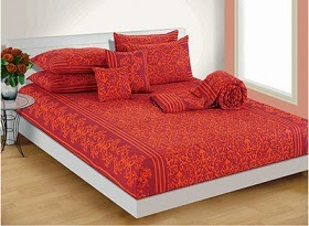 Swayam, Salona Bichona Cotton Bed Sheets (Double / Single) Flat 50% Off : All below Rs.450 @ Flipkart