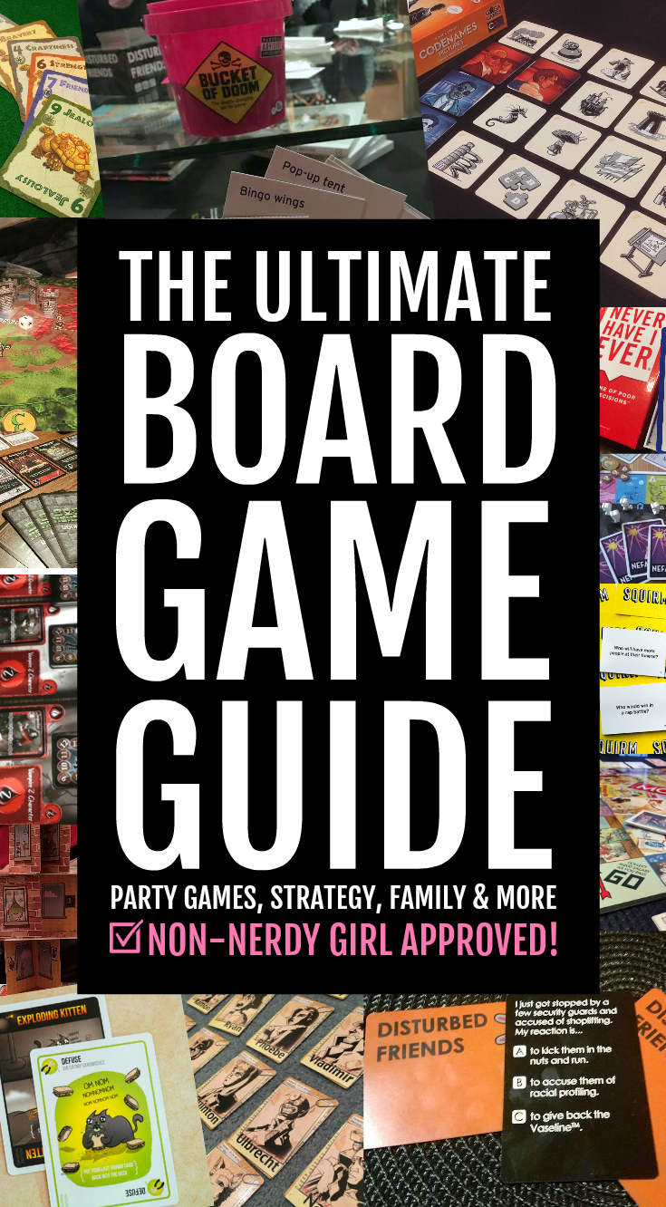 The Ultimate Board Game Guide - Board Game Recommendations for Families, Couples and Parties with Party Games, Strategy Games, Word Games, Family Games and more
