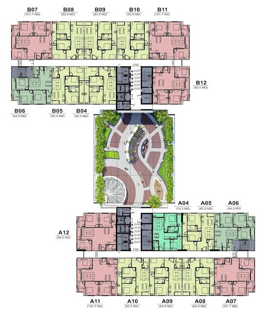 Mặt bằng thiết kế tầng 23 và 24