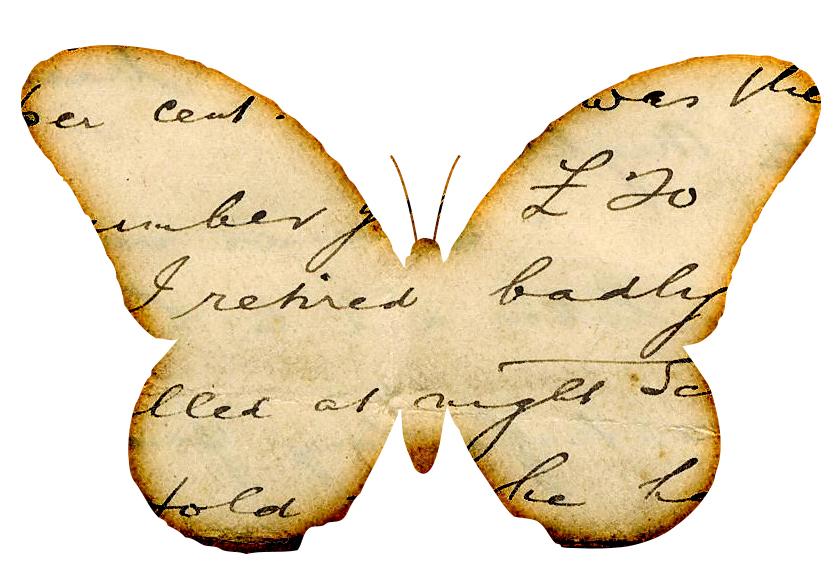 bikari: Kelebek Dekupaj Desenleri