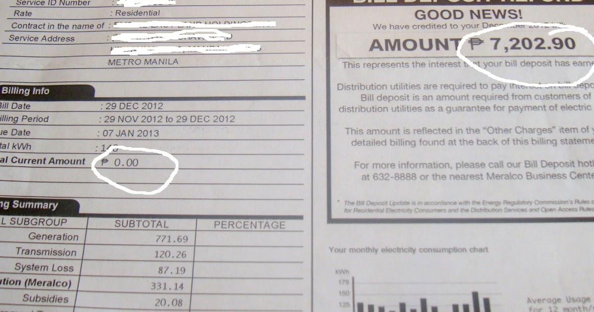 Pink MagaLine: Meralco Bill Deposit Refund