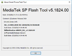 SP Flash Tool V5.1824