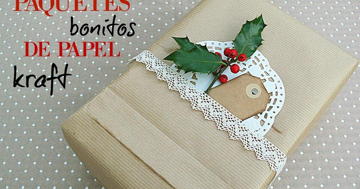 Manualidades y tendencias paquetes bonitos de papel kraft beautiful kraft packaging - Manualidades con papel craft ...