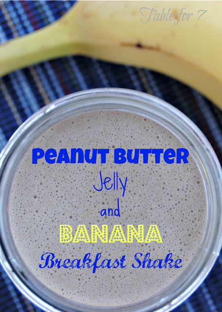 Peanut Butter,Jelly and Banana Breakfast Shake
