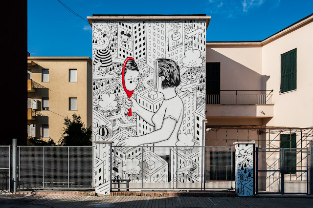 Our buddy Millo was part of this year's Memorie Urbane Street Art Festival which is currently taking place on the streets of Gaeta in Italy.