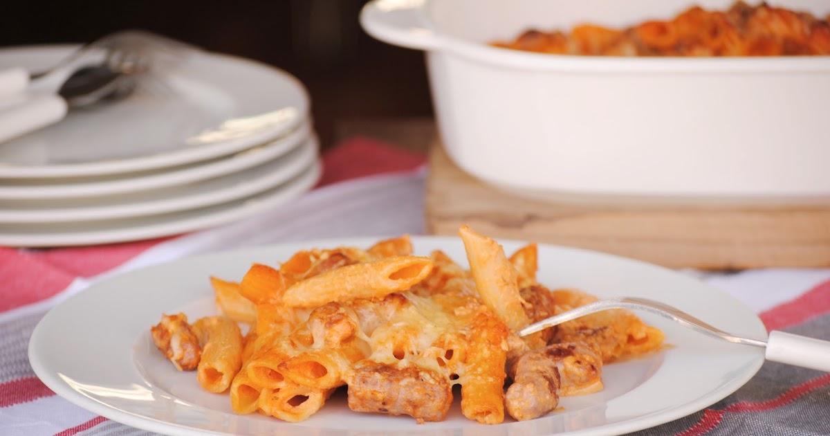 Cocinando con neus macarrones con salchichas para - Salsa de tomate y nata ...