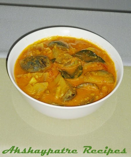 boil the vaingana ambat and sevre
