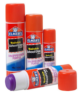Elmer's Washable School Glue, Disappearing Purple, 3 sizes