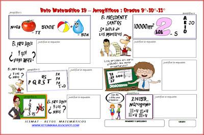 Jeroglíficos, Jeroglíficos para niños, Jeroglíficos escolares, Jeroglíficos con solución, Retos Matemáticos, Problemas Matemáticos, Desafíos Matemáticos