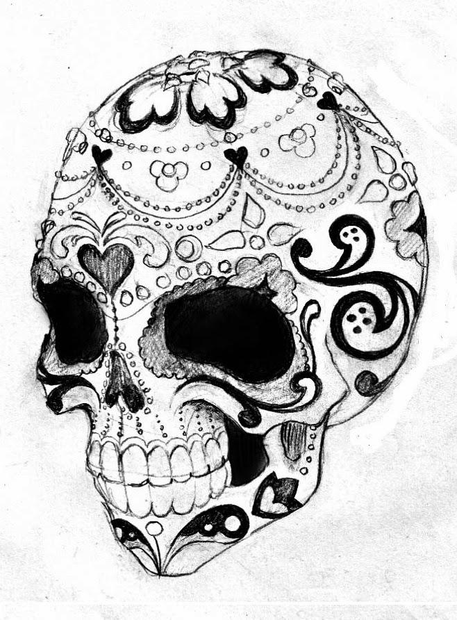 Amazing image in printable skull stencil