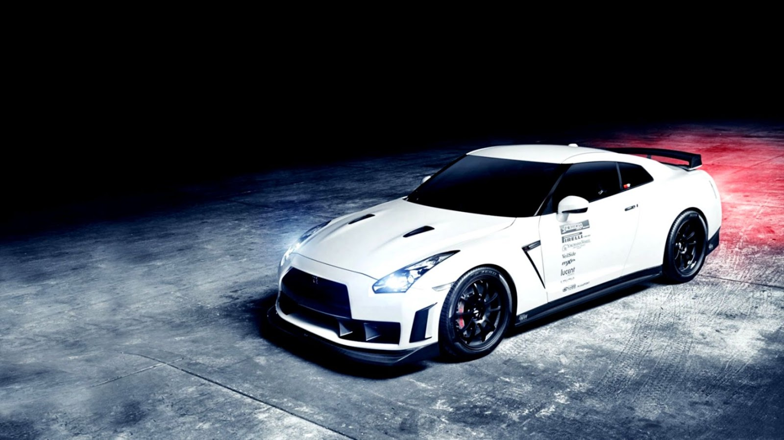 Nissan Gt R Blue Car Hd Wallpaper Views Wallpapers