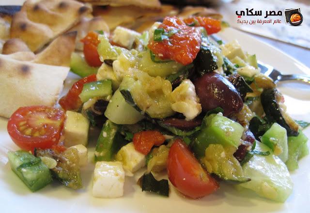 طريقة وخطوات عمل سلاطة الخضروات السوتيه Vegetable salad