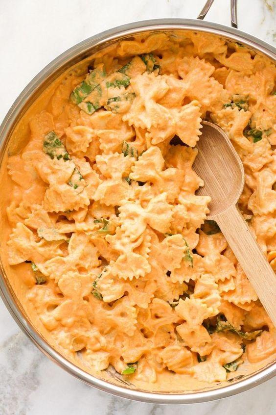 Vegan Tomato Basil Cream Pasta
