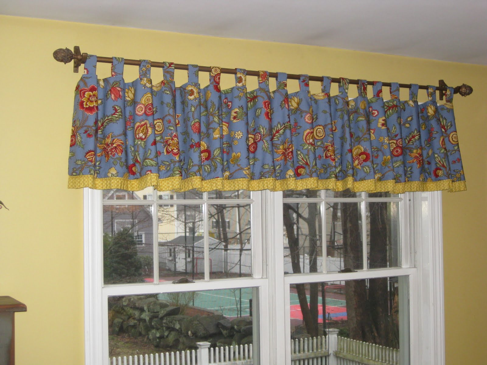 Although Not Easily Noticed Below There Is Also Self Welting Which Adds Depth To This Tab Top Window Treatment