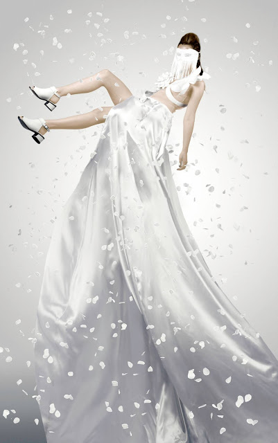 mystic magic, fashion, white, couture, dress, white dress, couture dress, rose petals, designer, hunger games, district 1, the capitol, futuristic, photography, fashion photography, high fashion, futuristic fashion, star trek, styling, avant garde,