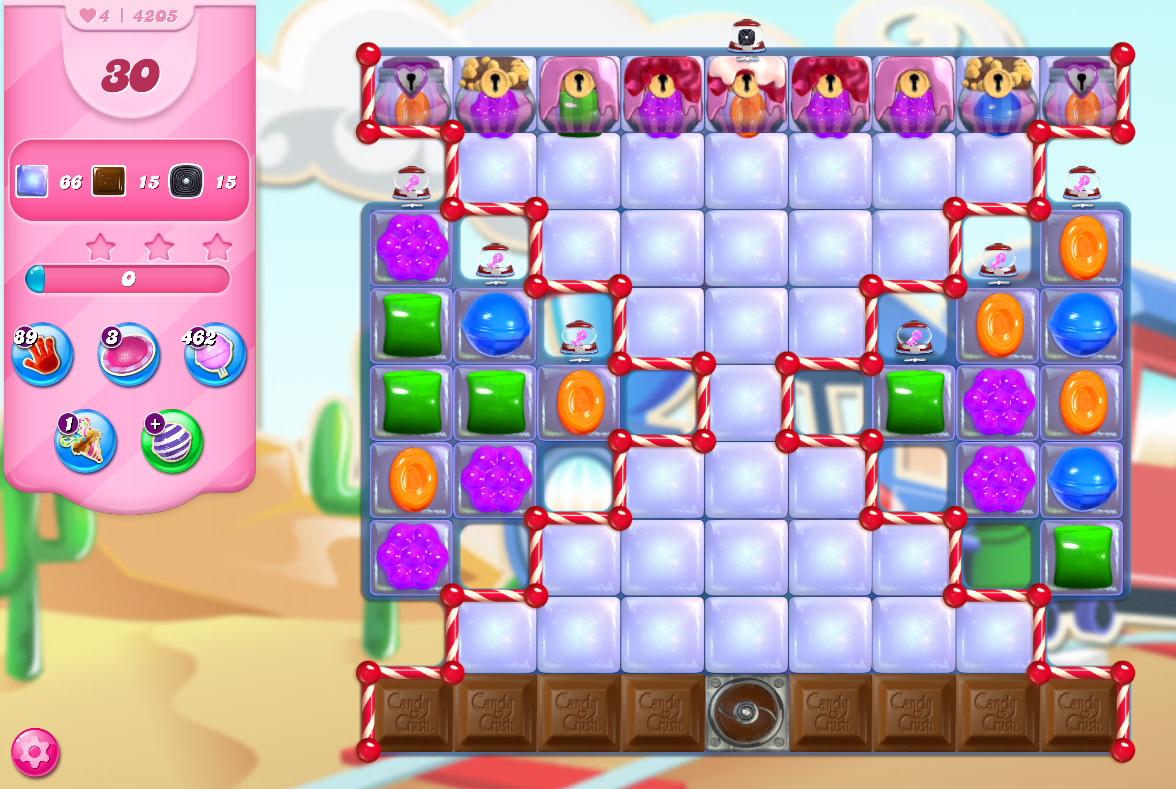 Candy Crush Saga level 4205