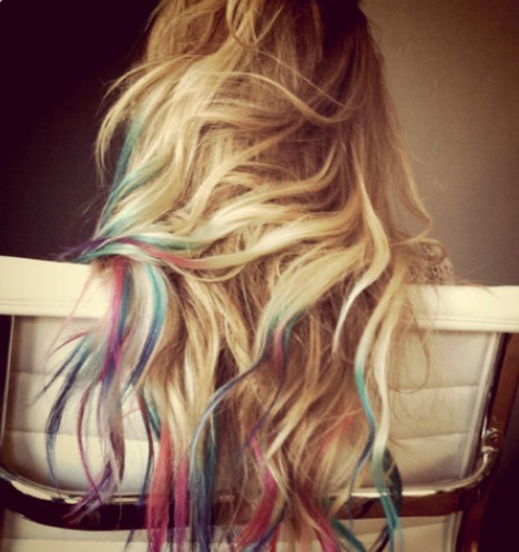 rainbow dip dyed hair say yes
