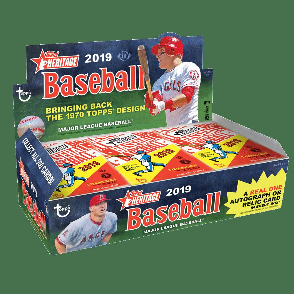 2019 Topps Heritage Baseball Checklist Box Break Inserts