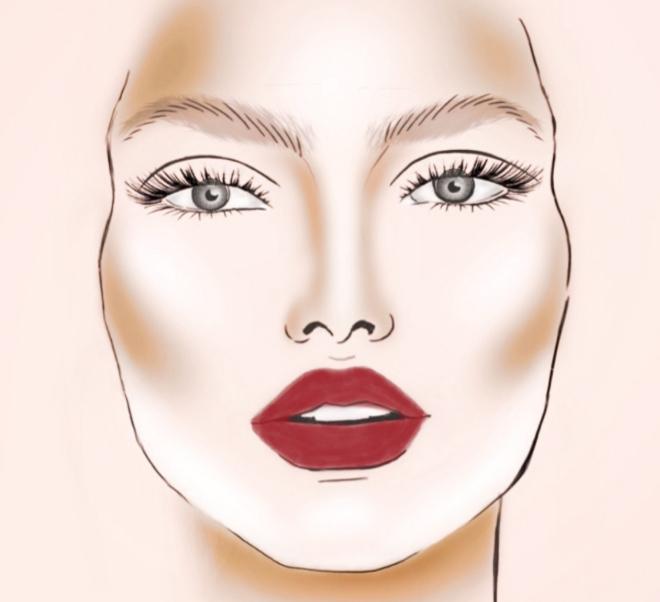 maquillaje en rostro redondo