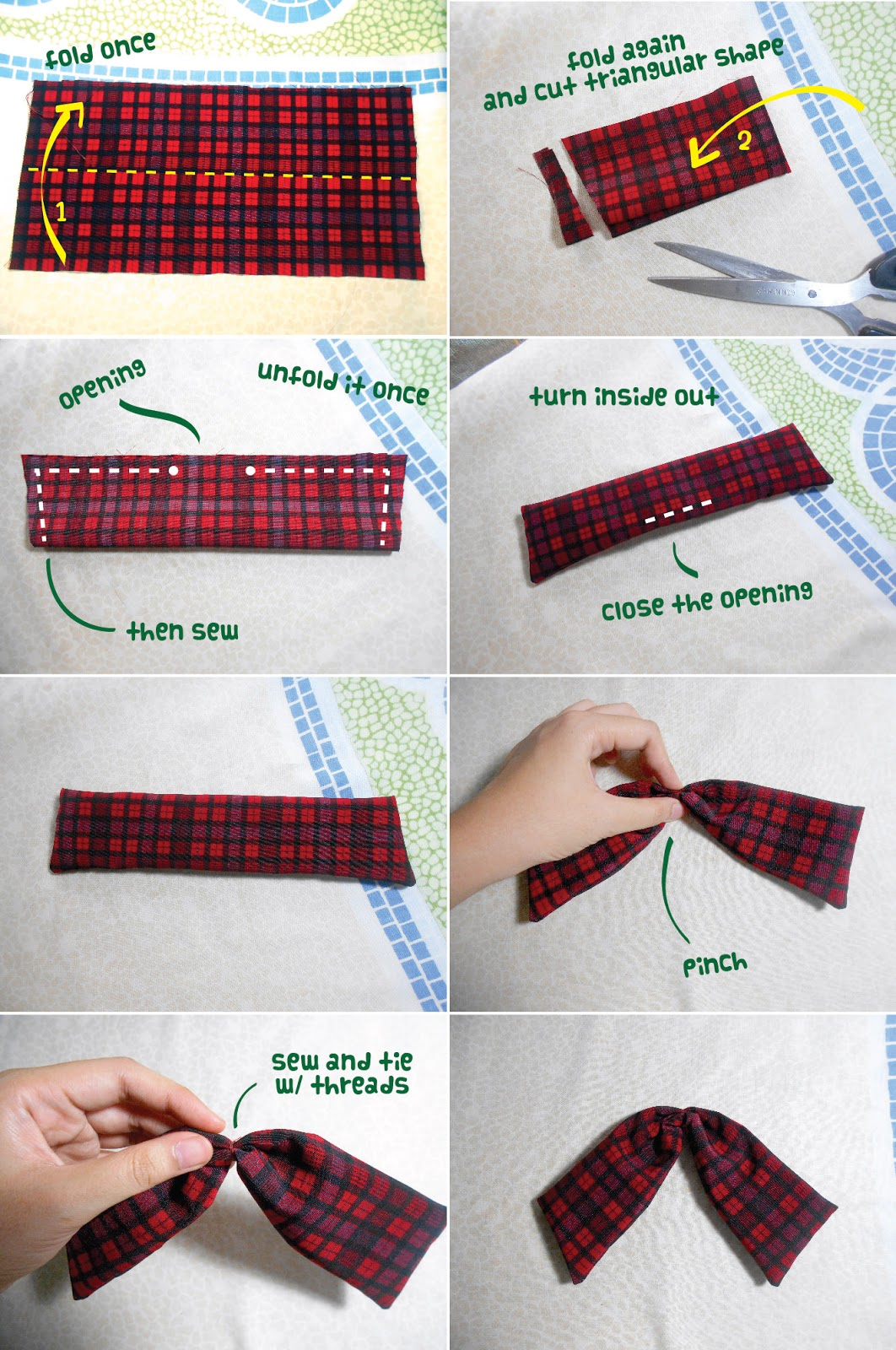 Anime School Girl Bow Tie DIY - bow tail
