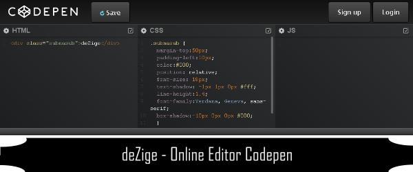 Online Editor CSS HTML Javascript 1