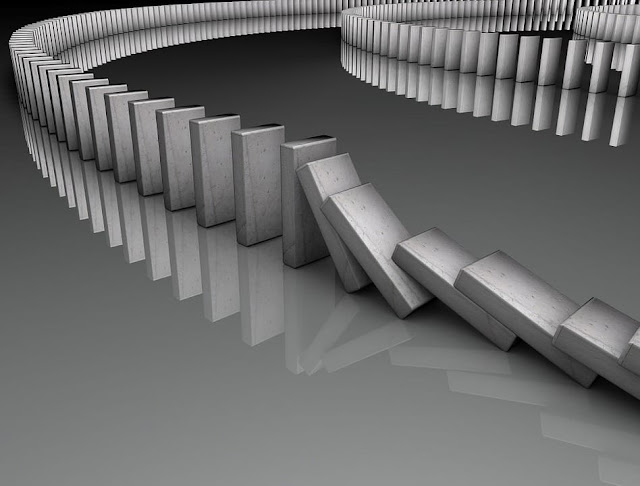 Domino effect to stop wasting time