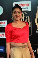 Samyukta Hamod in Red Crop top Brown Skirt at IIFA Utsavam Awards 005.JPG
