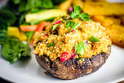 Crab Stuffed Portobellos