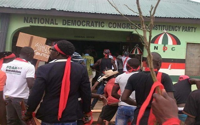 Angry Ningo-Prampram youth lock up EC office