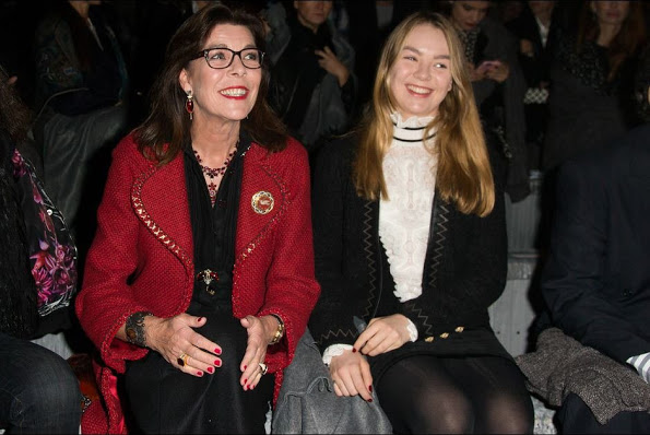 Princess Caroline And Princess Alexandra At The Chanel Fashion Show In Rome