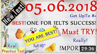 IELTS LISTENING PRACTICE TEST 2018 WITH ANSWERS   05.06.2018