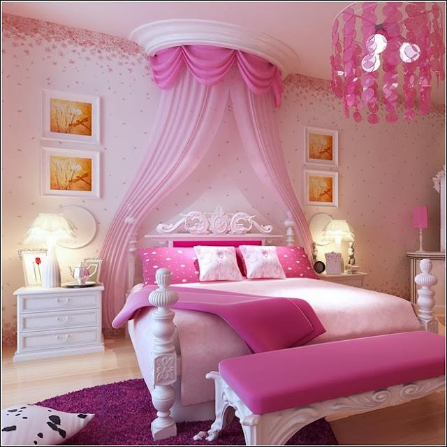 Thème chambre rose des filles princesses