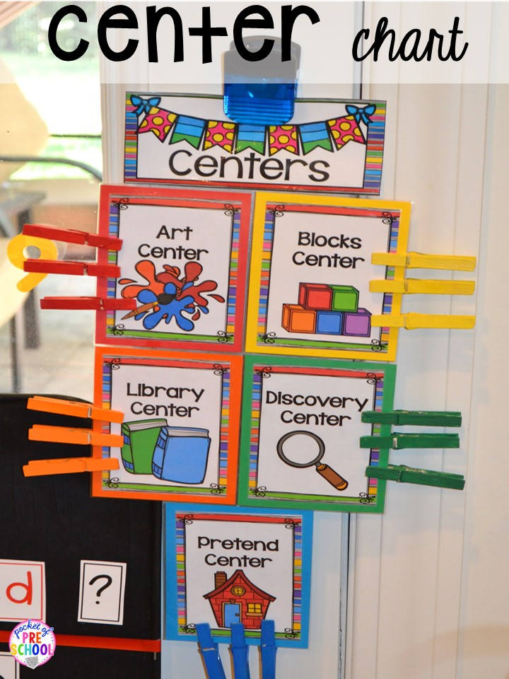 Center Time Management For Preschool And Pre K Pocket Of