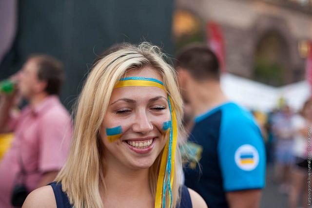 Ukraine Soccer Fans Women