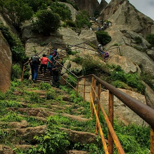 Shivagange rock steps