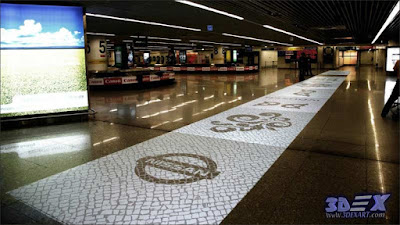 Interactive floor projection for promoting business and advertisement