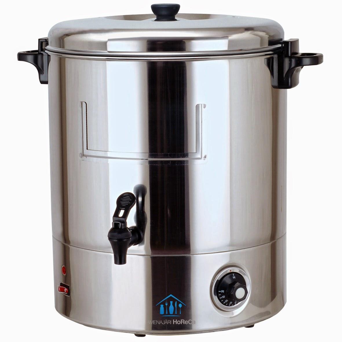 oala electrica,  finisaje standard, pereti dubli, pret, 30 litri, fierbator vin, aparat vin fiert, dozator vin fiert, dozator apa fierbinte, aparat ceai