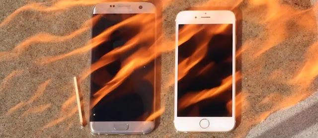 Video Uji Bakar Galaxy S7 Edge Vs iPhone 6S, Siapa yang Paling Kuat ?