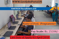HARTRON Corporation Limited Recruitment 2018 – 28 Programmer