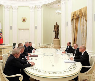 Vladimir Putin, former heads of Buryatia, Karelia, Perm Territory, Novgorod and Ryazan regions.