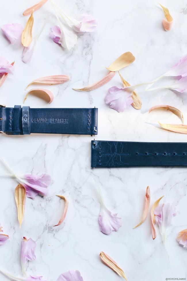 日本人ファッションブロガー,Mizuho K,NewIn-ネイビーベルトの時計,Oslo Andreas Ingeman ミニマルで綺麗な時計