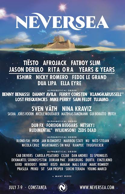 Neversea Festival Line-up