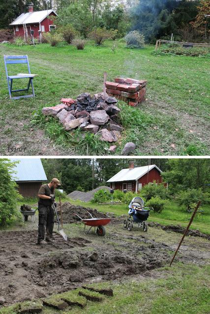 grillipaikan teko, nurmikon siirtäminen