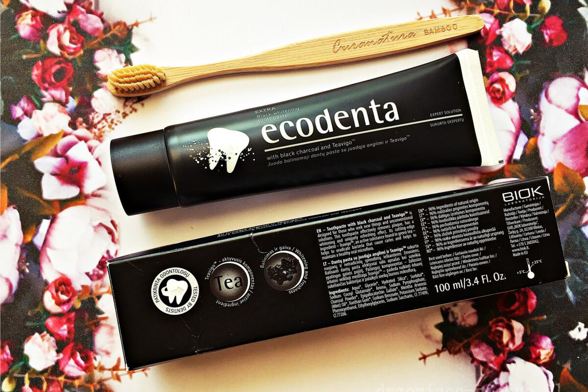 Ecodenta Extra - Czarna wybielająca pasta do zębów bez fluoru.