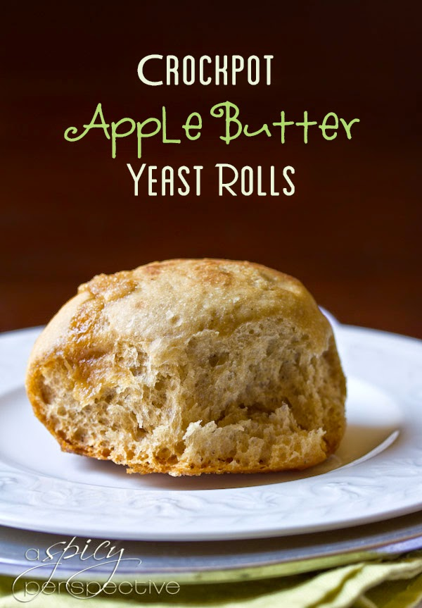 CrockPot Apple Butter Yeast Rolls from A Spicy Perspective found on SlowCookerFromScratch.com